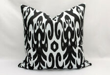 Black White ikat Pillow cover Uzbekistan Ikat handmade handwoven Cotton cushion