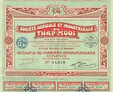 INDOCHINA AGRICULTURE & INDUSTRY OF THAP-MUOI stock certificate 1928
