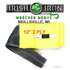 """Recovery Strap 12"""" x 16'  2 PLY. Wrecker, Rollback, Rotator, Tow Truck"""
