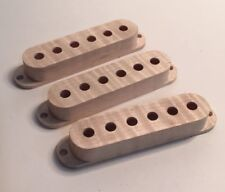 Guilford Flame Maple Stratocaster Pickup Covers - Set of 3 - Block Mill - USA