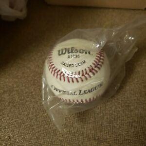 12 Pack of Wilson A1030 Raised Seam Baseballs 1 Dozen 9 inch 5oz Cork Center