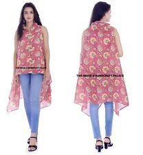 Women Holiday Cotton Floral Printed Kimono Cardigan Summer Long Tops Blouse Coat