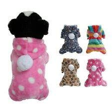 XS-L Dog Pajamas Jumpsuit Pet Puppy Cat Clothes Hoodie Costume French Bulldog
