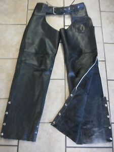 Interstate Leather Motorcycle Chaps Men's Size XL