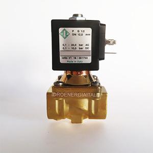 elettrovalvola acqua calda vapore 1/2 mezzo pollice 140 gradi normalmente chiusa