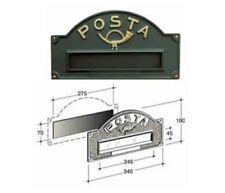 Placca buca lettere Alubox ottone brunito per esterno formato rivista