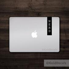 Nerd Banner - Vinyl Decal Mac Apple Logo Laptop Sticker Macbook Decal Geek