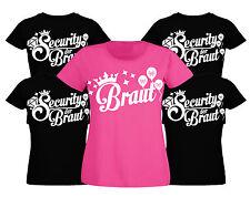 Junggesellinnenabschied T-Shirt Junggesellenabschied Security Braut Damen shirt