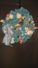 "Spring Door Wreath,Easter Decor Floral Wreath - 18"" - Homemade"