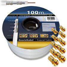 100 m Satkabel 120 dB Sat digital Antennenkabel Koaxialkabel Kabel 4-fach HD 3D