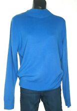 Mountain Lake Womens Blue Soft Acrylic Mock Turtle Neck Sweater Size Medium
