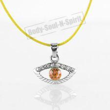 Collar NARANJA del ojo malvado cristal Amuleto Colgante Kabbalah Joyería Judaica