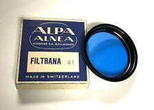 Alpa Filtrana Blue 41 Filter for Switar 50mm F1.8 Schneider 75mm B&W NOS
