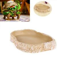 Reptile Feeding Dish Food Bowl Resin Food Dish Pet Snake Lizard Gecko Feeder