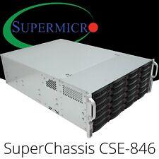 "SuperMicro CSE-846 SuperChassis X9DRi-F 4U 24x 3.5"" LFF Storage Server 2x PSU"