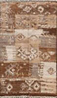 Modern Moroccan Berber Oriental Area Rug Hand-knotted Plush Wool Carpet 4x6 ft