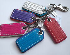 NWT Coach Leather Multi Lozenge Tags Key Fob Chain Keychain Charm 62736