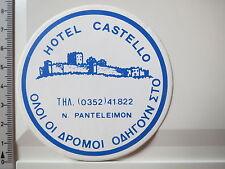 Aufkleber Sticker Hotel Castello Panteleimon (3756)