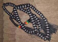 African Tuareg Chaplet - Ebony Wood Prayer Beads - Necklace - Tasbih -- Mali