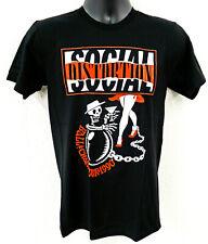 SOCIAL DISTORTION T-shirt Ball & Chain Tour 1990 Punk Rock Tee Men's SMALL New