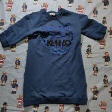 Jungle Kenzo Paris Short Sleeve Sweatshirt Sewn Tiger Logo MEDIUM Blue Spell Out