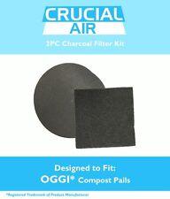 OGGI Compost Pail Charcoal Carbon Filter Kit (2PCS) Fits 7320, 5427, 5448 & 7700