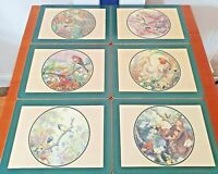PIMPERNEL Place Mats Set Of 6 UK Countryside Hedgerow Birds Cork Back Boxed