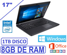 "ORDENADOR PORTATIL ACER GAMA 2018 17"" INTEL 8GB 1 TB WINDOWS 10 + OFFICE"