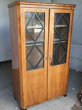More details for antique,19thc,biedermeier,walnut,tall,glazed,bookcase,adjustable,shelves,cabinet