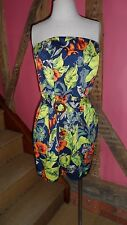 UK14 Totally Tropical Strapless Mini Dress in Cotton Blend by French Connection