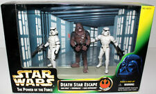 Star Wars Potf Death Star Escape W/Han Solo Chewbacca & Luke Skywalker 1997 Mib