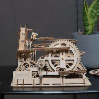 ROKR Hölz Kugelbahn Konstruktionsspielzeug-Sets DIY Achterbahn Modellbausätze