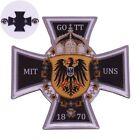 Pin German Federal eagle lapel 1870 Deutschland Reich unification badge God