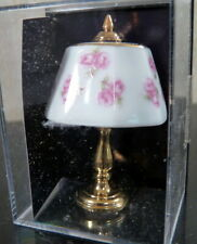 NIP Reutter Dollhouse Miniature Porcelain & Brass Lamp 1:12 Dollhouse Miniature