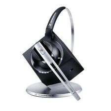 Sennheiser DW10 Wireless DECT Over-Ear Headset for Office Phone - Black/Silver