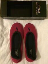 Ralph Lauren Women's Bayley Slippers Hot Pink/Navy Size UK 5