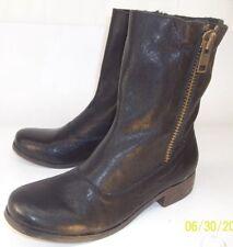 d9915e16306 Steven By Steve Madden Women s US 7 Black Leather Double Side Zip Ankle  Boots