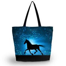 Horse Reusable Portable Bag Tote Women's Shopping Bag Shoulder Bag Lady Handbag