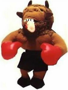 "MEANIES ""MIKE BISON"" BOXING Spoof Bean Bag Toys TYSON w/Holyfield's EAR in Mouth"