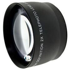 55mm 2.0x Tele Conversion Lens for Canon Sony Nikon Panasonic DSLR Camcorders