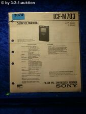 Sony Service Manual ICF M703 PLL Synthesized Receiver (#3074)