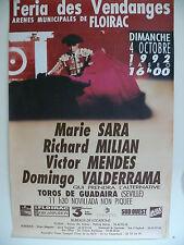 Affiche tauromachique, Corrida, Floirac, 1992.