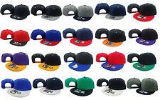 Flat Bill Snapback WHOLESALE LOT 20 Vintage Hats Caps Different Colors WHOLESALE