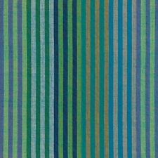 Kaffe Fassett Caterpillar Stripe Aqua Woven Cotton Fabric By The Yard