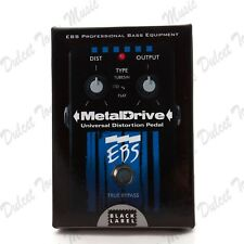 EBS Bass Guitar Metal Drive Universal Distortion Pedal with Tube Sim *FAST POST*