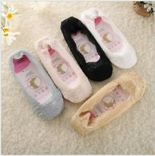 Ladies/Girls Invisible Socks Non-slip Shoe Liners Cotton Rich One Size MOST 4-7