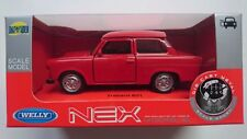 WELLY TRABANT 601 RED 1:34 DIE CAST METAL MODEL NEW IN BOX