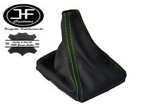 GREEN STITCH LEATHER MANUAL GEAR GAITER SHIFT BOOT VOLVO S70 V70 1996-2007