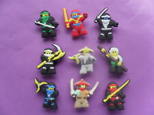 9 Lego Ninja Ninjago jibbitz crocs wrist hair loom band shoe charms cake toppers