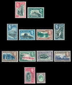 CEYLON  1938-49  KGVI  Pictorial set - SPECIMEN - perf.  SG 386s-397s  mint MLH